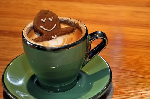 gingerbread man coffee